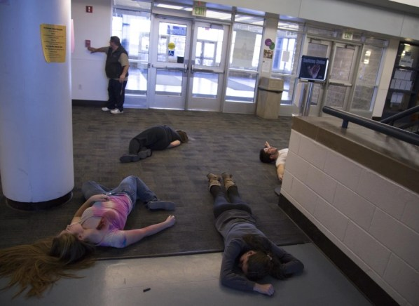 Image: Active shooter drill