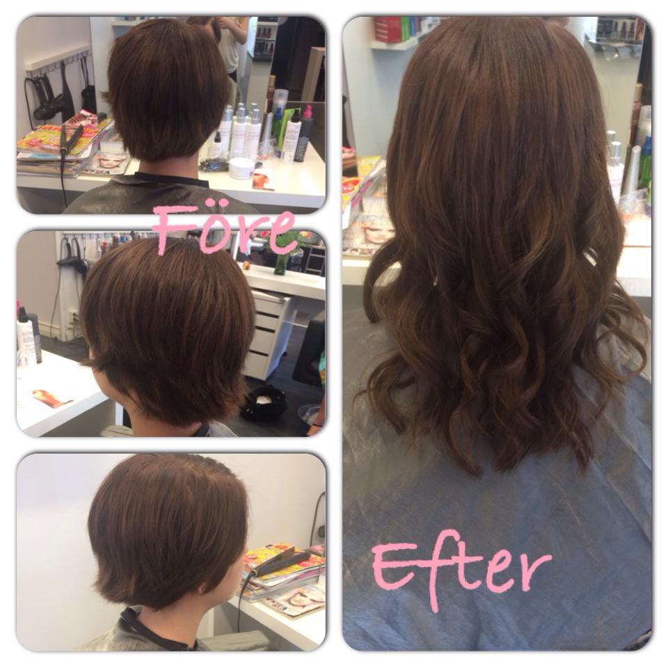 hur långt hår för hårförlängning