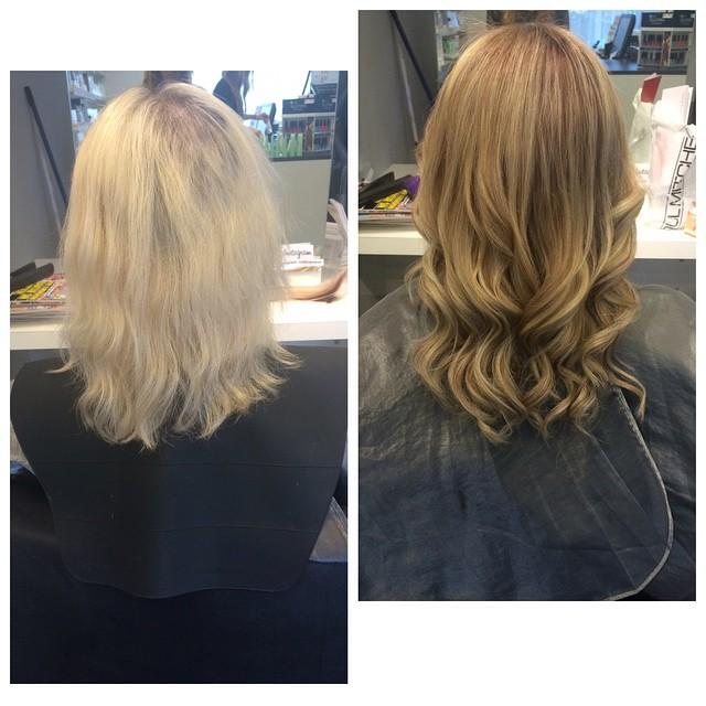 hairtalk före,efter och färg