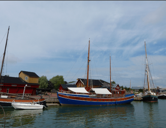 Old boats in the harbour