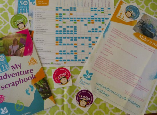 National Trust 50 things to do before you are 11 3/4