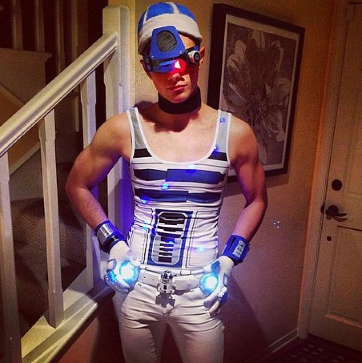 Glee's Chris Colfer did a sexy R2-D2 look for Halloween.<br /><br /> Source: Instagram user hrhchriscolfer<br /><br />