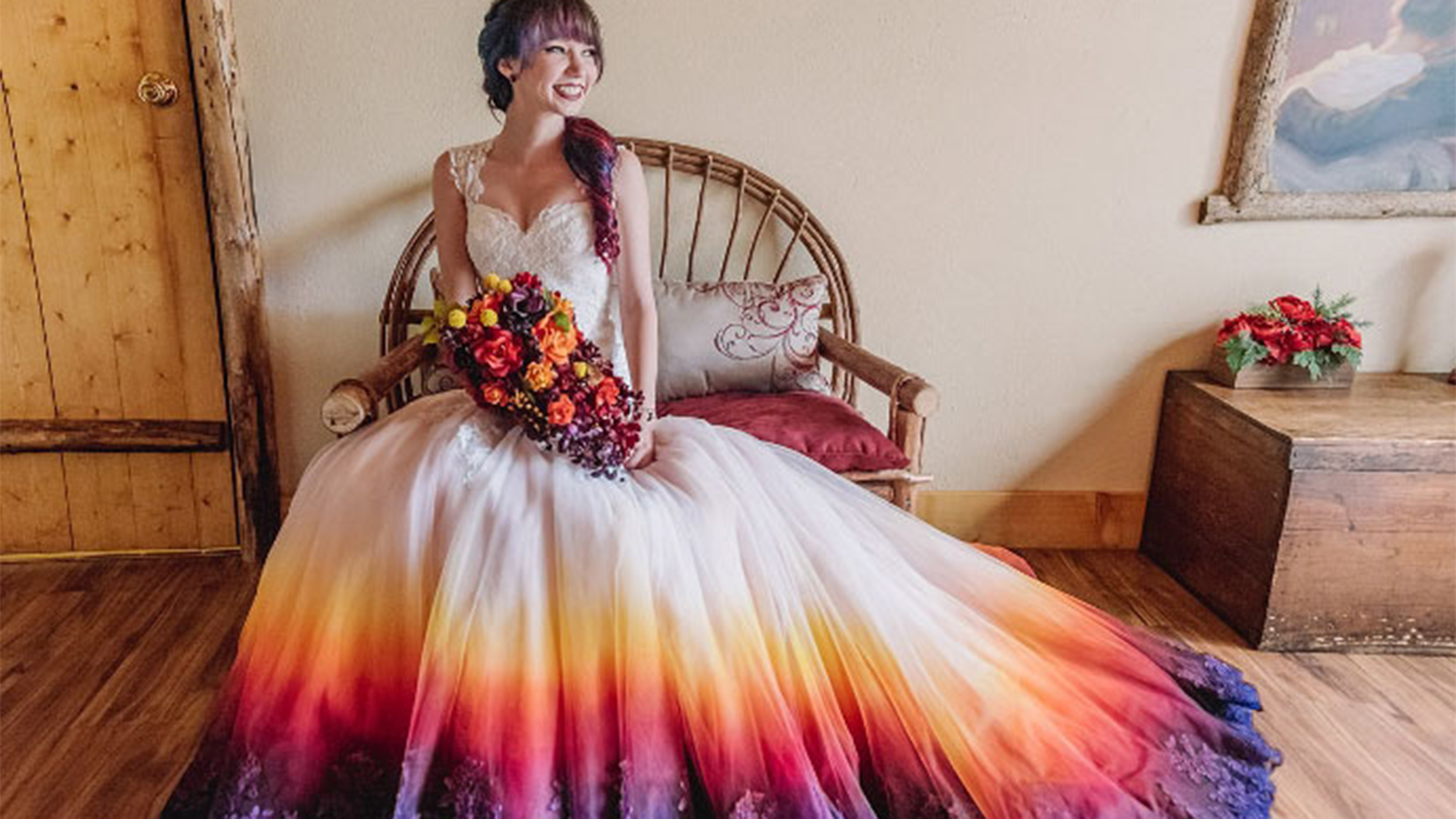 dip dyed colorful wedding dresses are new bridal trend t tie dye wedding dress Dip dyed colorful wedding dresses are the new bridal trend TODAY com
