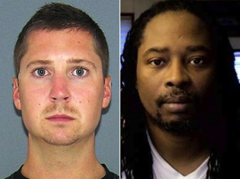 Ray Tensing mug shot vs Samuel DuBose photo
