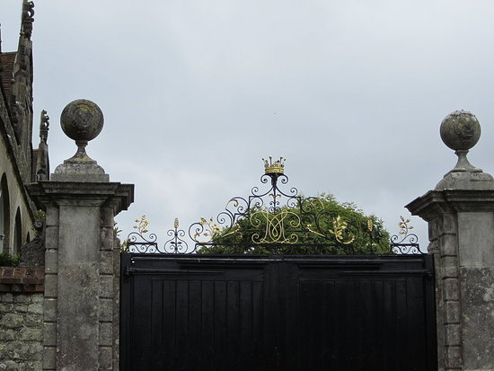 Entrance to the private gardens of Lord Sackville