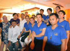 staff at Cajutan in Bangkok