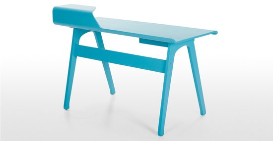 Cornell desk in Robin Egg blue