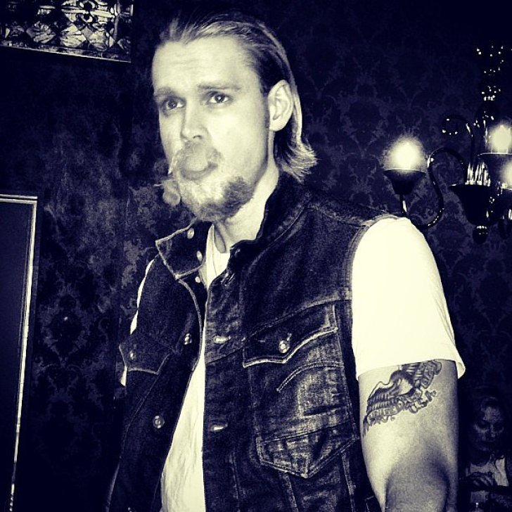 Chord Overstreet channeled Charlie Hunnam's Sons of Anarchy character for Halloween.<br /><br /> Source: Instagram user chordover<br /><br />