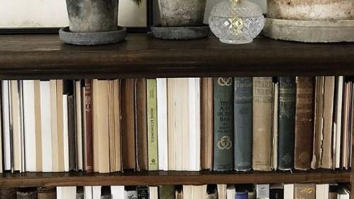 Medium Of Books On A Shelf Image