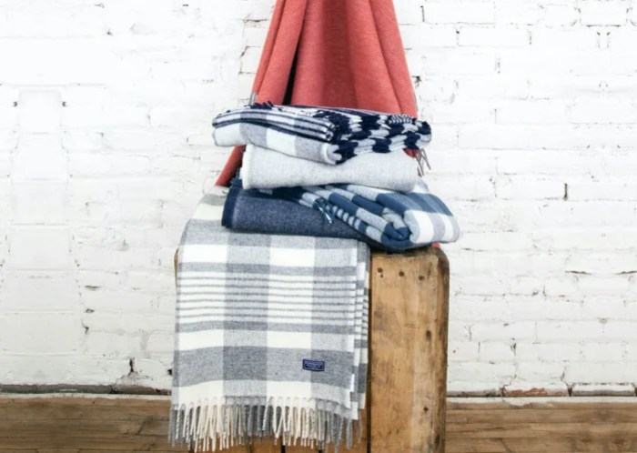 plaid throw seen on Jill's steals and deals