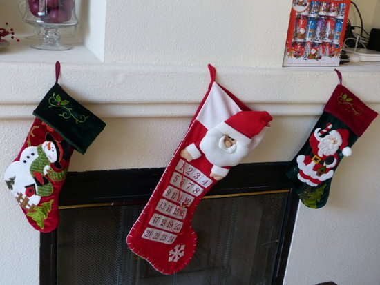 Christmas socks are up