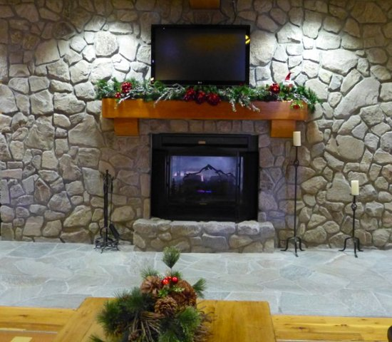 line the fireplaces