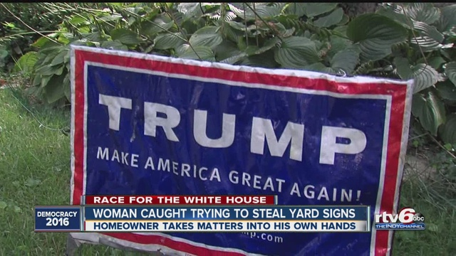 Karma comes swiftly for would be Trump sign thief   TheIndyChannel     Karma comes swiftly for would be Trump sign thief   TheIndyChannel com  Indianapolis  IN