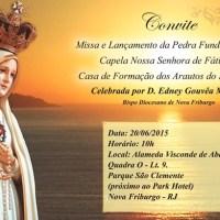 Convite – Pedra Fundamental da Capela Nossa Senhora de Fátima