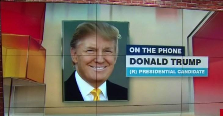 Donald Trump on the Phone