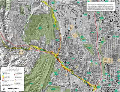 Colorado Springs  El Paso County Release Final Flash Flood Risk     Overview of Fountain and Camp Creek Final Flash Flood Risk Analysis Map   July 24  2013