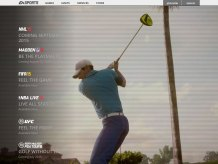 Here you can see Rory winding up to take his swing. This is part of the homepage video on easports.com.