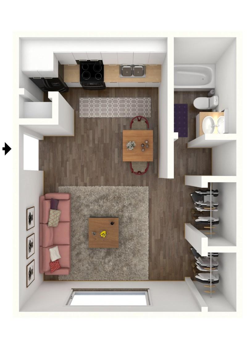 Large Of Average Studio Apartment Size