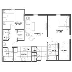 Small Crop Of 2 Bedroom Floor Plans