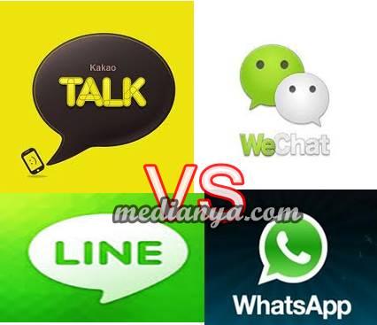 Kakao Talk Wechat Whats App Line