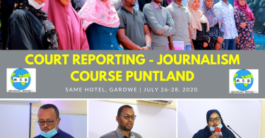 court reporting - journalism course Puntland