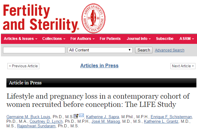 Lifestyle and pregnancy loss in a contemporary cohort of women recruited before conception Кофе перед зачатием приводит к выкидышу?