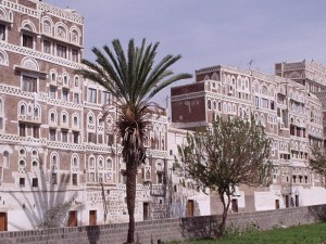 Richly decorated houses in Sana'a Image