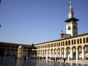 The courtyard of the Great Umayyad Mosque in Damascus Image