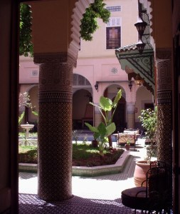 A courtyard house in Fez, Morocco. Image