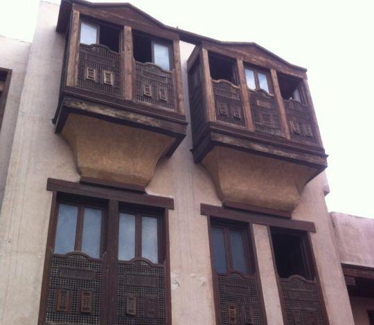 Mashrabiyyahs (rawashin) on a house in Cairo Image
