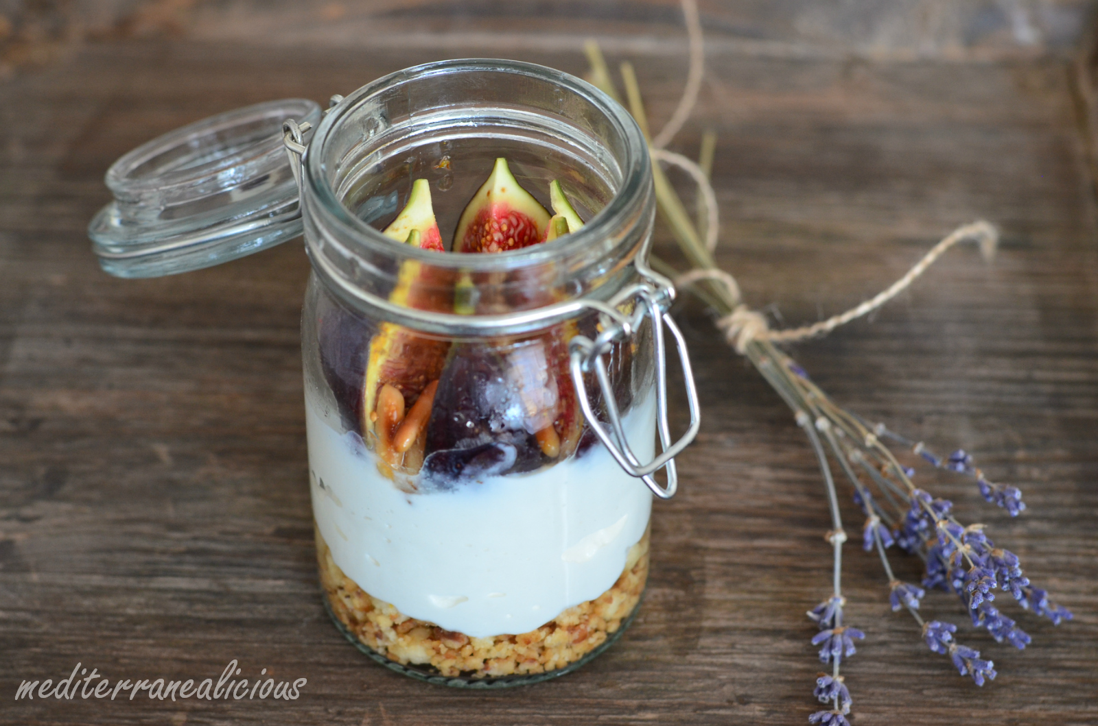 Figs with lavender honey