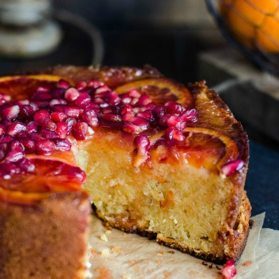 Blood Orange & Pomegranate Cake