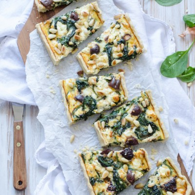 Easy Spinach-Feta-Olive Tarte