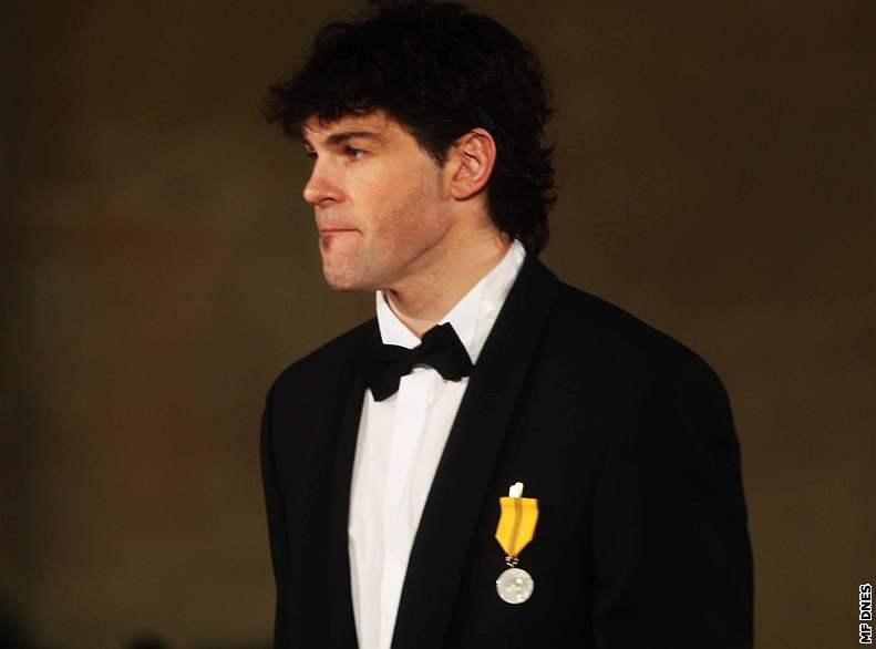 Vyznamenaný Jaromír Jágr s Medailí Za zásluhy. Autor: Dan Materna, MAFRA