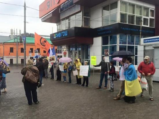 Všeľudový protest proti ruskej účasti na Donbase