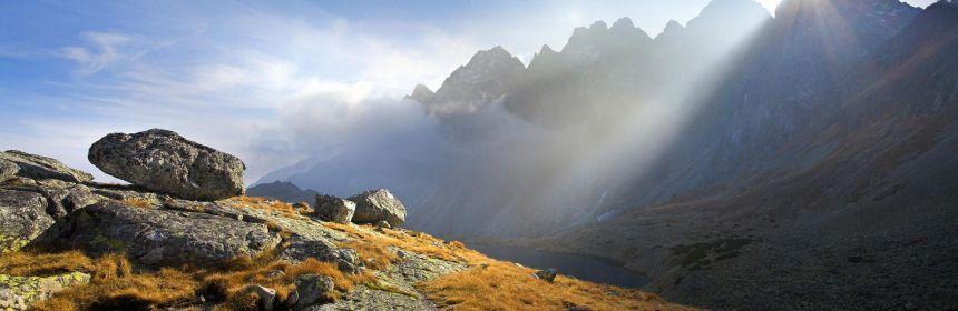Vysoké Tatry, Slovensko, hory, skaly, slnko