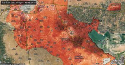 Výbežok pri Aleppo. Zdroj: Islamic World New