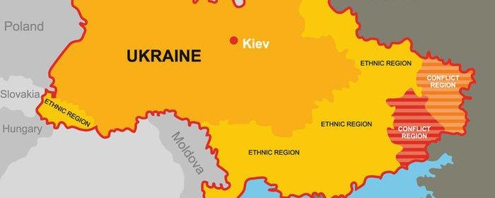Ukrajina - mapa