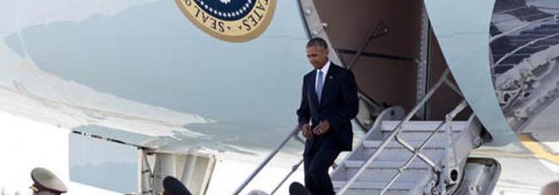 Obama na letisku v Hangzhou