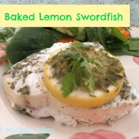 My Baked Lemon Swordfish