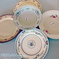 Thrifted Tea Plates and Saucers