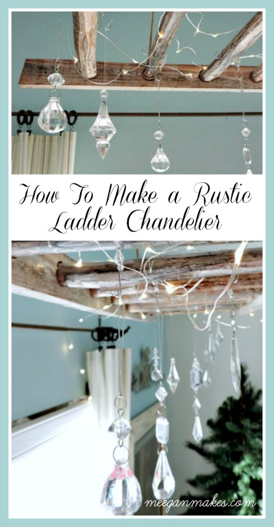 Make a Rustic Ladder Chandelier