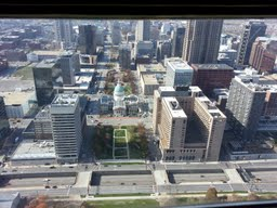 View of the St. Louis Skyline from the Top of the Arch!