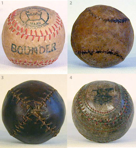 Four Old-Time Balls