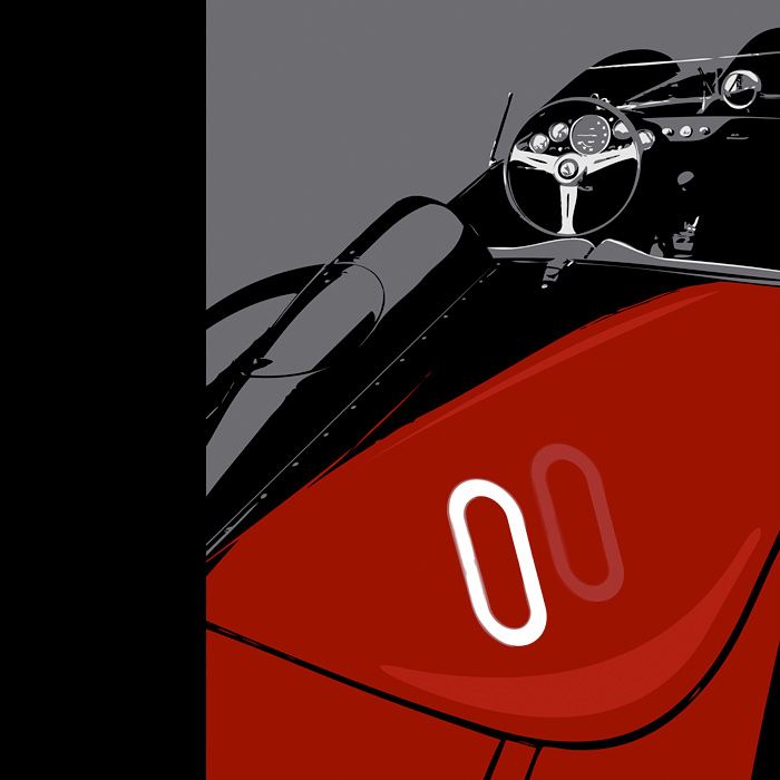 1957 250 Ferrari Print :: 90 Days of Art