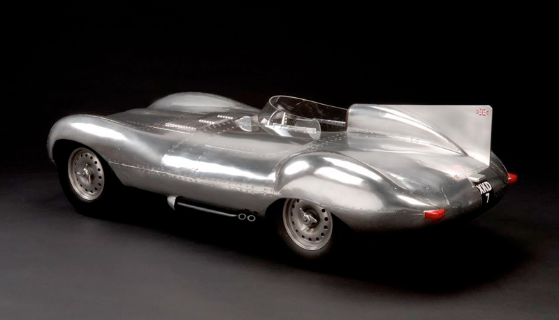 'D-Type Jaguar,1955', unique sculpture by John Elwell.