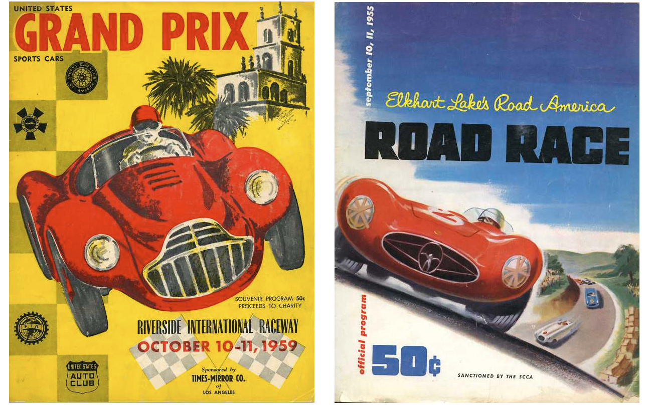 Auto Racing Programs From The 50s & 60s :: Vintage Motorphoto