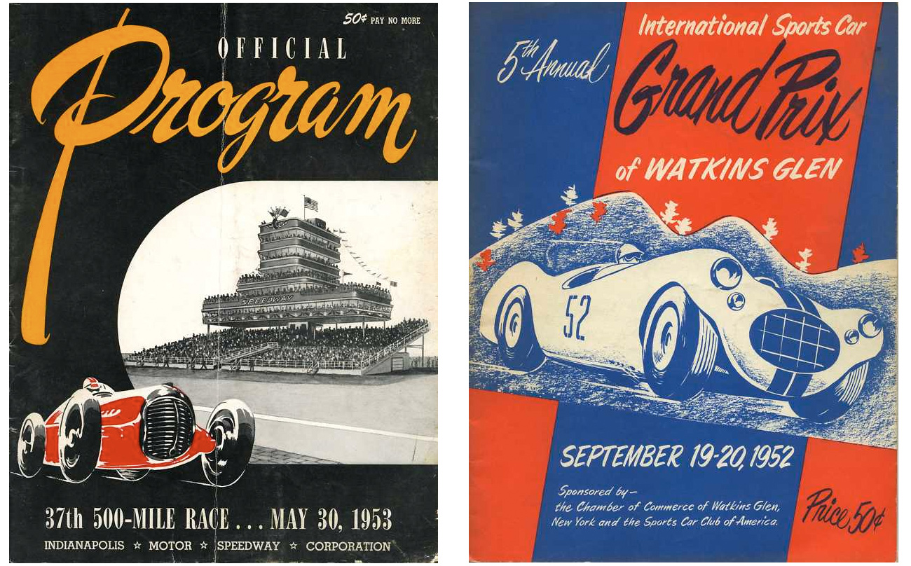 Poster design 50s - Auto Racing Programs From The 50 S
