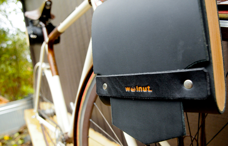 Large Pocket Pannier with Cedar :: Walnut Studiolo Portland, OR