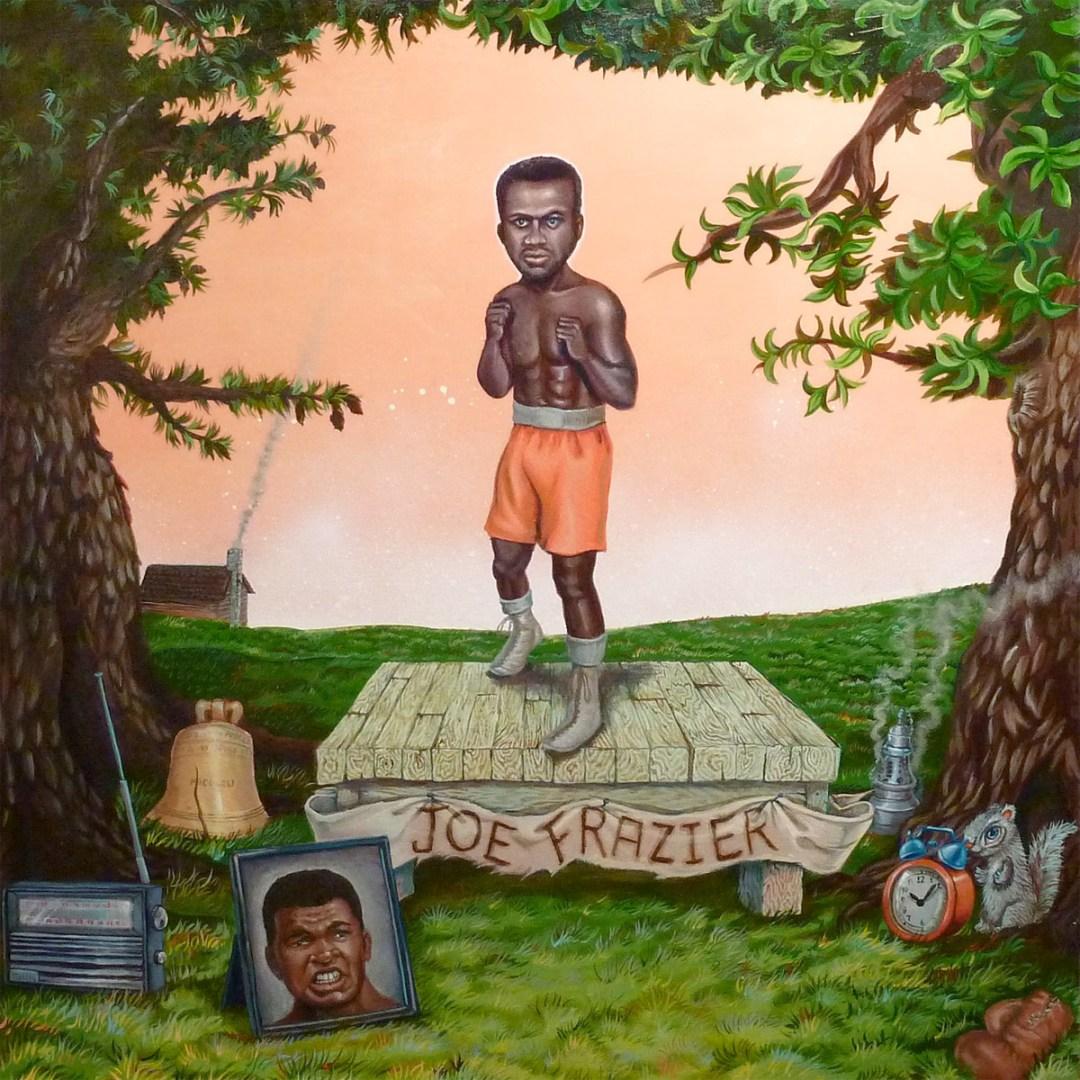 """Boxer """"Smokin"""" Joe Frazier - Original Art by Mr. Hooper"""